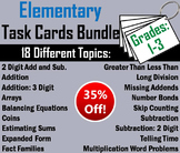 Math Task Cards Grade 1 to 3: Addition, Arrays, Fact Families, Long Division etc
