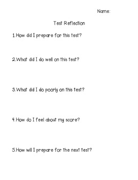 Elementary Math Test Reflection