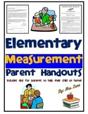 Elementary Measurement Parent Handouts (Help At Home)