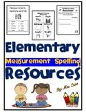 Elementary Measurement Spelling Resources