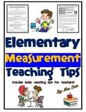 Elementary Measurement Teaching Tips