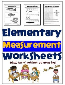 Elementary Measurement Worksheets
