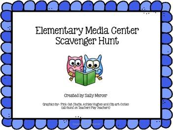 Elementary Media Center Scavenger Hunt