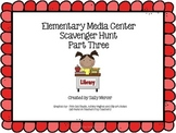 Elementary Media Center Scavenger Hunt Part 3 with QR Codes