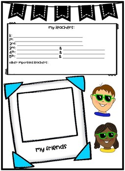 Elementary Memory Book for Fifth Grade Students