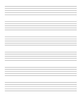 Elementary Middle & High School Music Class Staff Paper