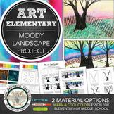 Elementary, Middle School Art Distance Learning Project: Landscape Scene
