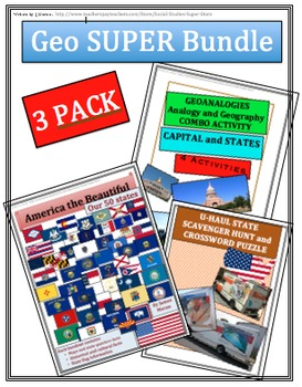 Elementary - Middle School No Prep Geography Bundle PACK