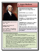 Elementary-Middle School Presidential Profile: James Madison & FREE map activity