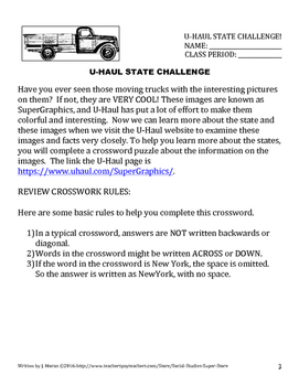 Elementary - Middle School State Scavenger Hunt