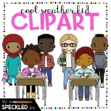 Elementary + Middle School Student Clip Art. Fall and Wint