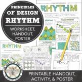Rhythm, Principles of Design Mini Art Lesson, Visual Art Worksheet