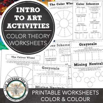 Elementary, Middle, or High School Art: Color Theory & Color Mixing Worksheets