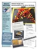 Elementary Modular Design Art Lesson incl. Presentation, Critique & Assessment!