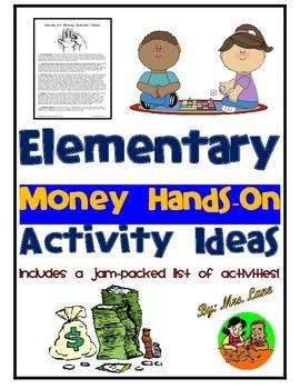 Elementary Money Hands-On Activity Ideas