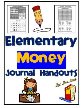 Elementary Money Journal Handouts