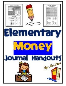 Elementary Money Journal Handouts