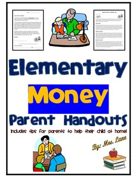 Elementary Money Parent Handouts (Help At Home)