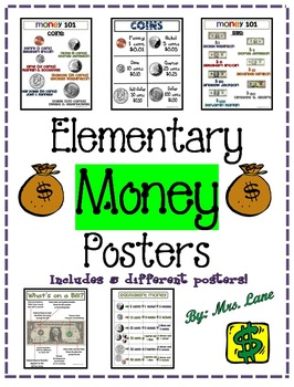 Elementary Money Posters (Includes 5 Different Posters!)