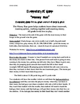 Elementary Money Run Fitness Game
