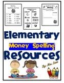 Elementary Money Spelling Resources