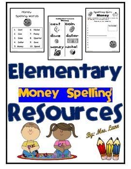Elementary Money Spelling Resources