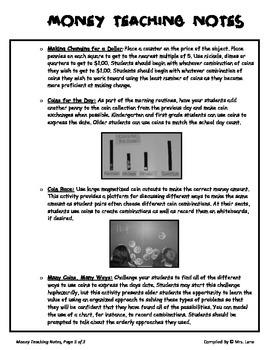 Elementary Money Teaching Tips