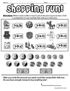 Elementary Money Worksheets