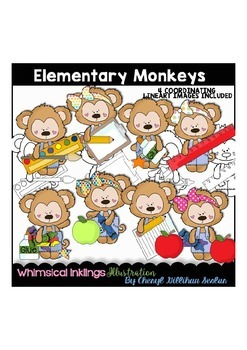 Elementary Monkeys Clipart Collection