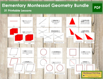 Elementary Montessori Geometry Bundle