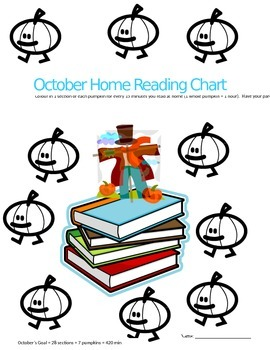 Elementary Monthly reading sheets/ log