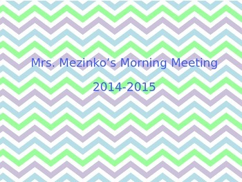 Elementary Morning Meeting For Smartboard