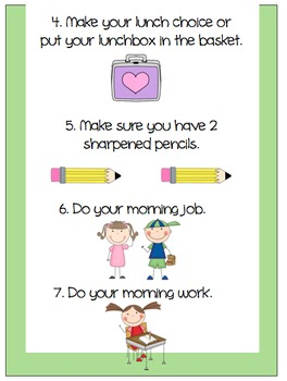 Elementary Morning Routine Poster