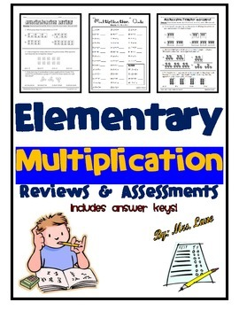 Elementary Multiplication Reviews and Assessments