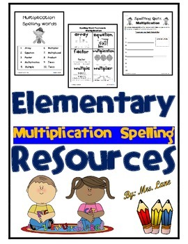 Elementary Multiplication Spelling Resources