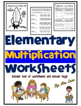 Elementary Multiplication Worksheets