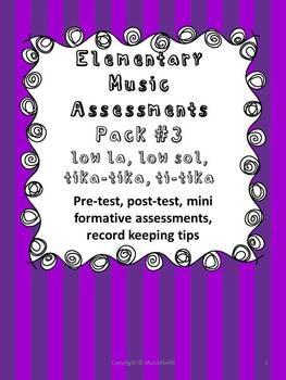 Elementary Music Assessment #3: Grade 3-4 {low la, low sol
