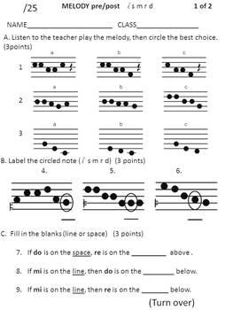 Elementary Music Assessment Pack: Grade 2-3 {do re} {quarter rest & half note}