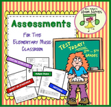 Elementary Music Assessment Template, Set of 8, 2nd-4th
