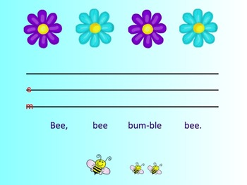 Elementary Music Literacy Bee Bee Bumblebee Smart Notebook