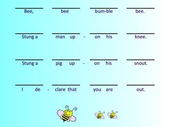 Elementary Music Literacy Bee Bee Bumblebee Smart Notebook