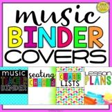 Music Teacher Binder Covers (Bright and Modern Music Binder)