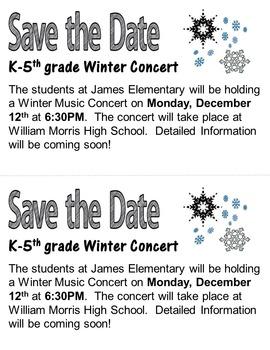 Elementary Music Christmas Concert #2: Program, letters, lyrics, and more!