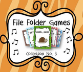 Elementary Music File Folder Games: Collection No. 3