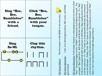 Elementary Music Folder Game - Bee Bee Bumblebee