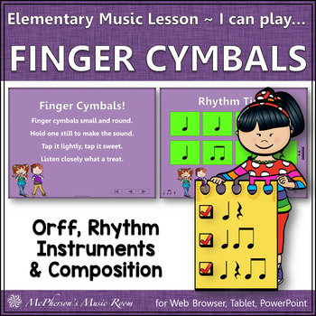 Elementary Music Lesson ~ Finger Cymbals: Orff, Rhythm, Instruments, Composition