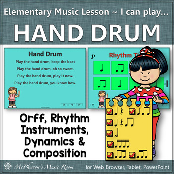 Elementary Music Lesson ~ Hand Drum: Orff, Rhythm, Instruments & Composition