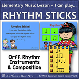 Elementary Music Lesson ~ Rhythm Sticks: Orff, Rhythm, Instruments & Composition