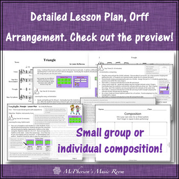 Elementary Music Lesson ~ Triangle: Orff, Rhythm, Instruments & Composition