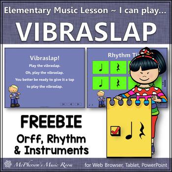 Elementary Music I can play the…Vibra Slap: Orff, Rhythm & Instruments {Freebie}